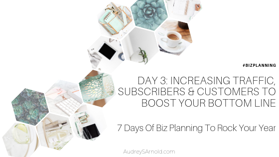 Biz Planning Day 3: Increasing Traffic, Subscribers & Customers To Boost Your Bottom Line